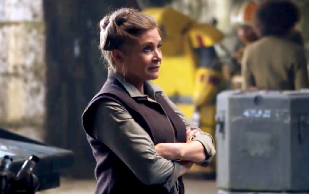 General Leia in The Force Awakens.