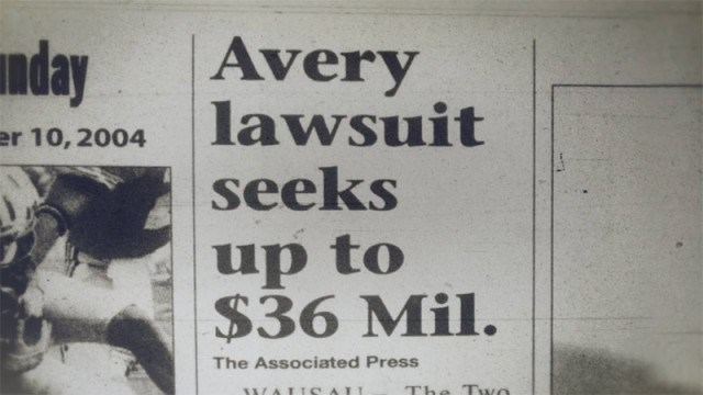 A news clipping about Steven Avery, as seen in 'Making a Murderer'