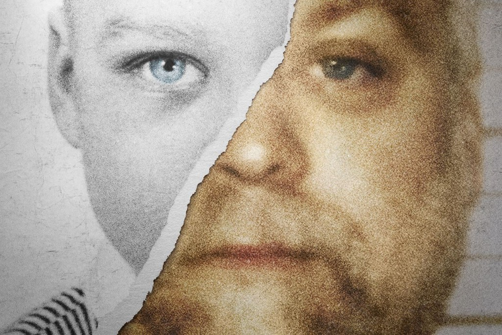 Making a Murderer show photo, a man with a torn photo of a young boy