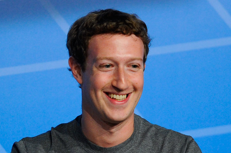 This is a closeup of Mark Zuckerberg's face.
