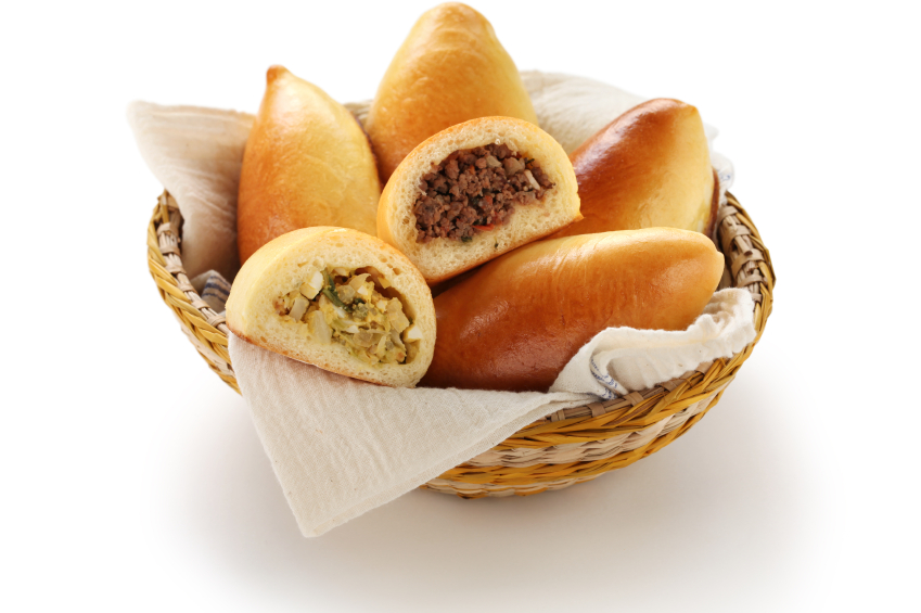 basket of piroshki