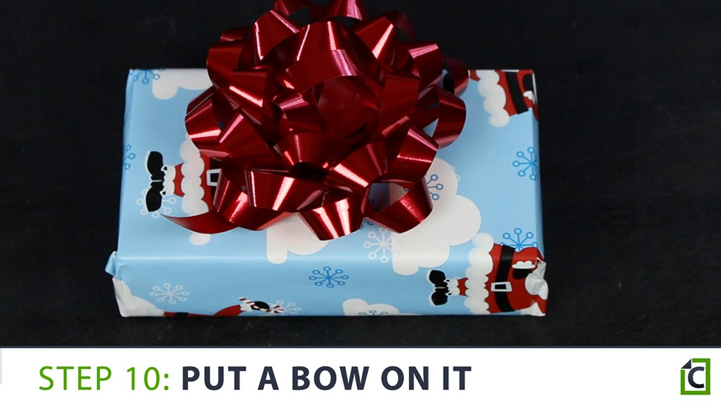 how to wrap a present 10
