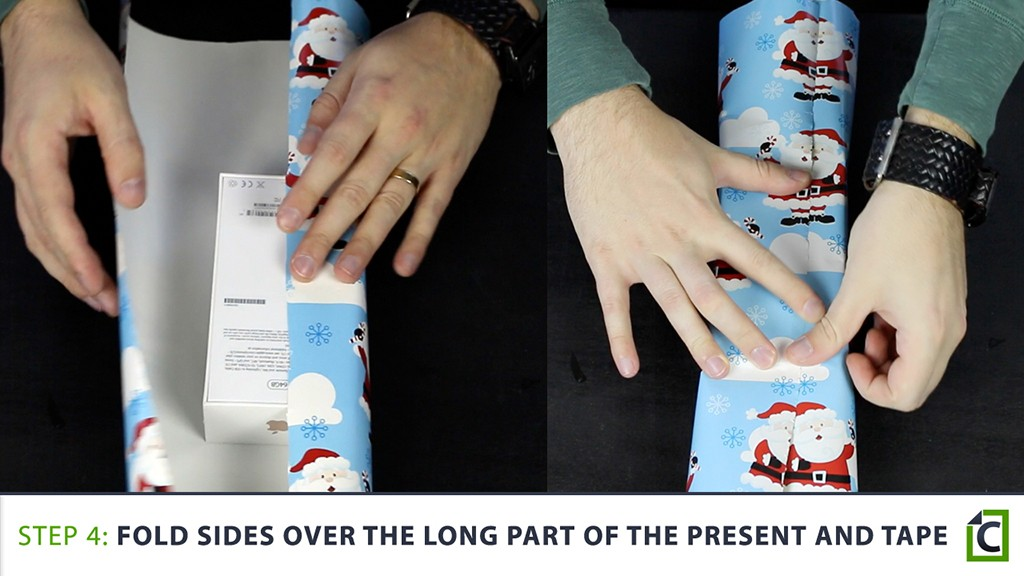 how to wrap a present 4
