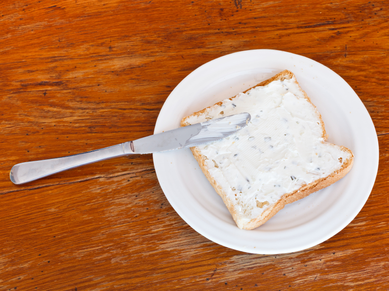 cottage cheese spread on toast
