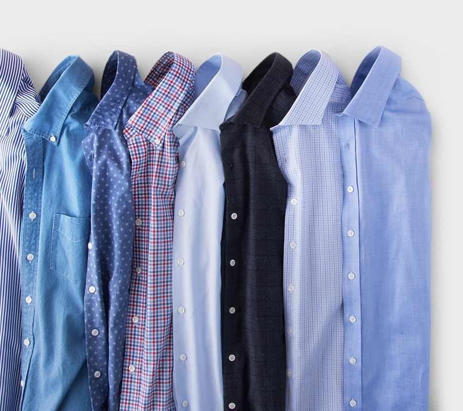 Collection of button-up shirts