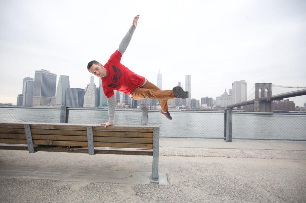 Steve Kamb of Nerd Fitness jumping a bench