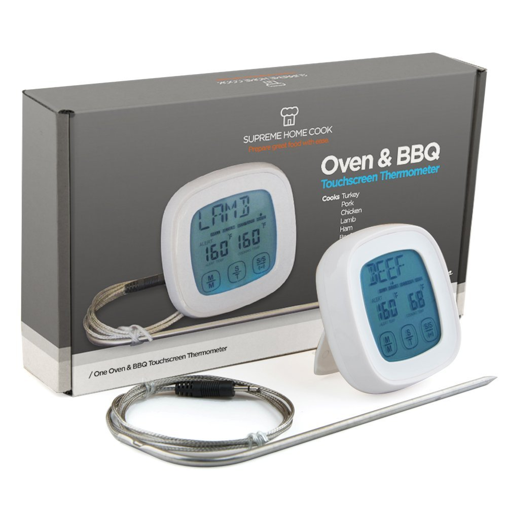 oven and bbq touchscreen thermometer