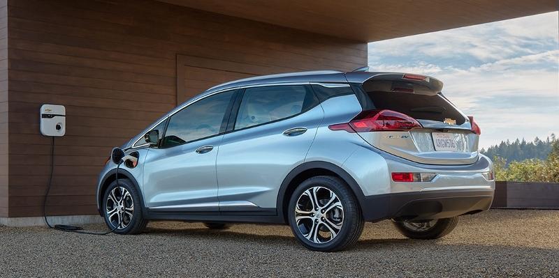 Chevrolet Bolt EV charging at an owner's home station