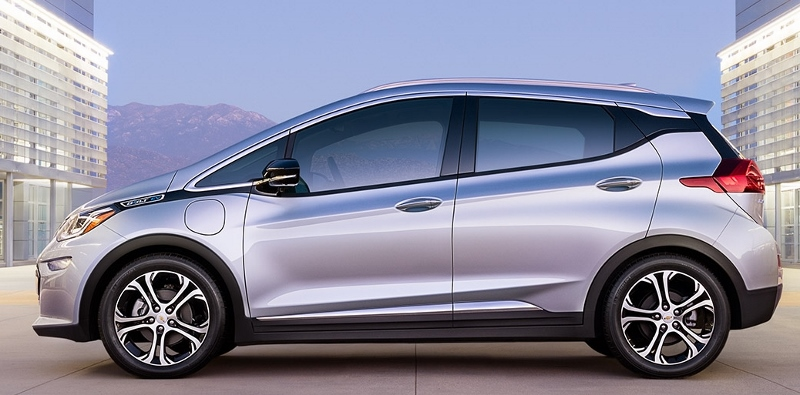Chevrolet Bolt EV in profile