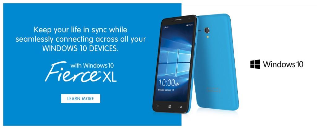 Alcatel FierceXL Windows 10 smartphone