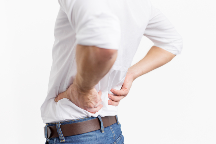 man experiencing back pain