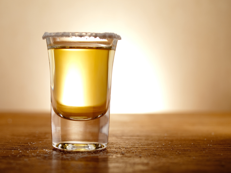 A shot of tequila
