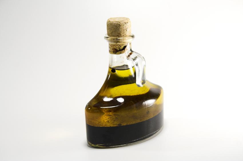 A bottle of artisan, handmade vinegar