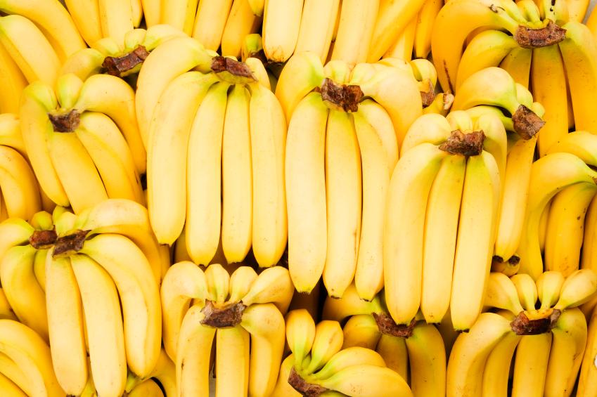 stockpile of bananas
