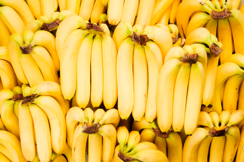 stockpile of bananas