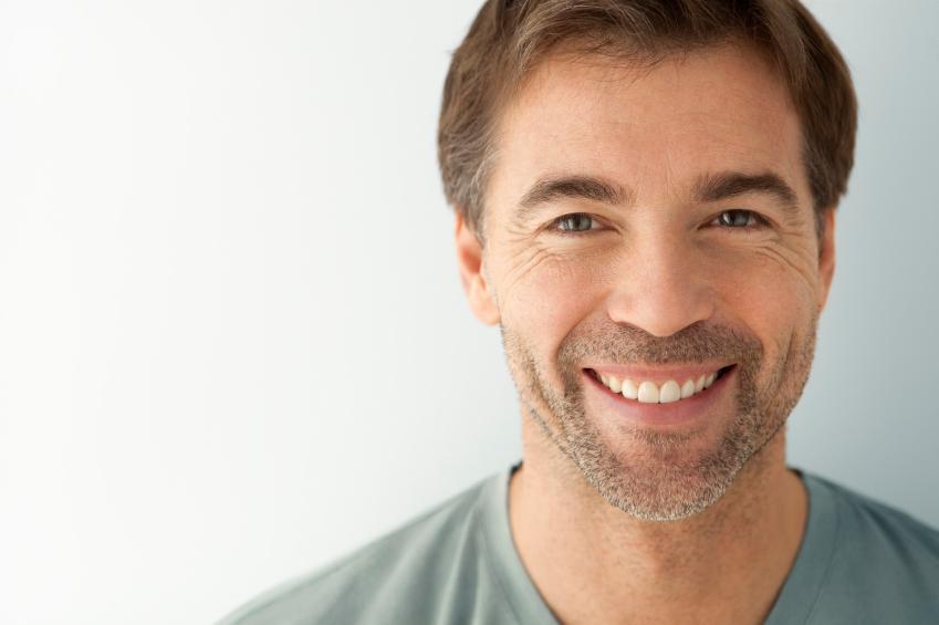 man with beard smiling