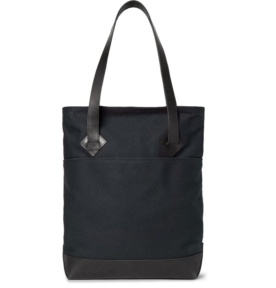 Club Monaco leather-trim tote bag