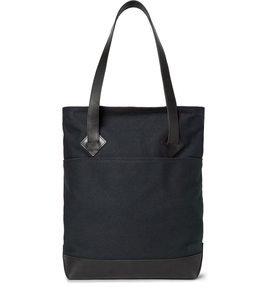 Club Monaco leather-trim tote bag