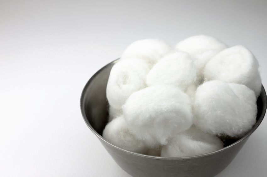 Cotton Balls in a bowl