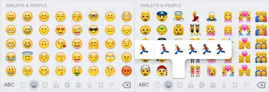 Emoji in iOS 9