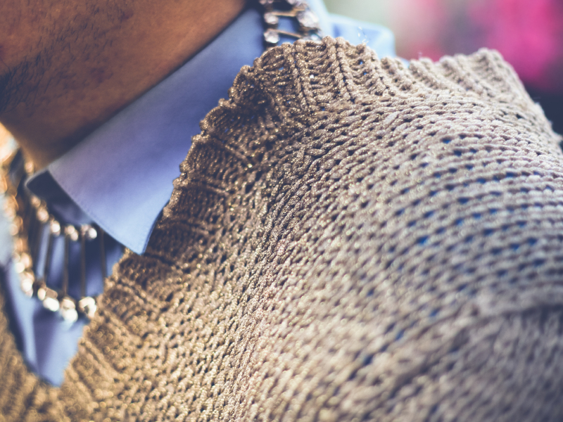Man wearing winter sweater