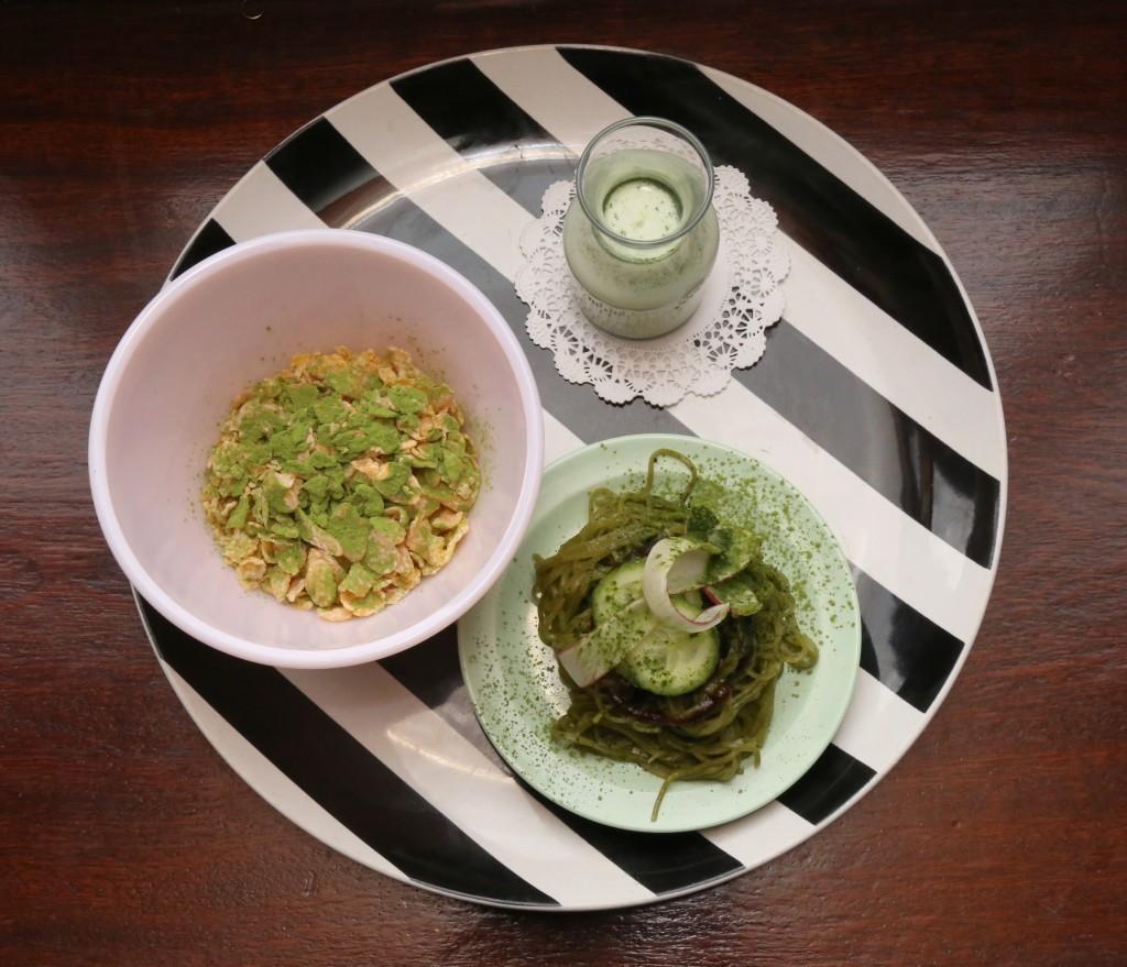 FROSTED FLAKES matcha milk, green tea powder 2