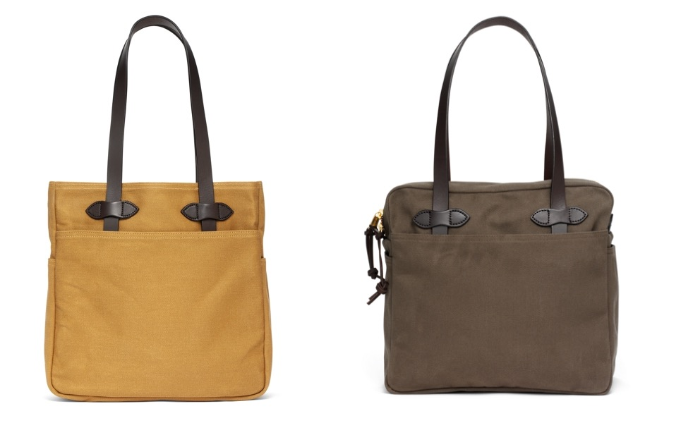 Filson tote bags at Brooks Brothers