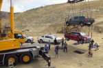 Ford Hangs 9 Trucks From a Crane for the Sake of the New Super Duty