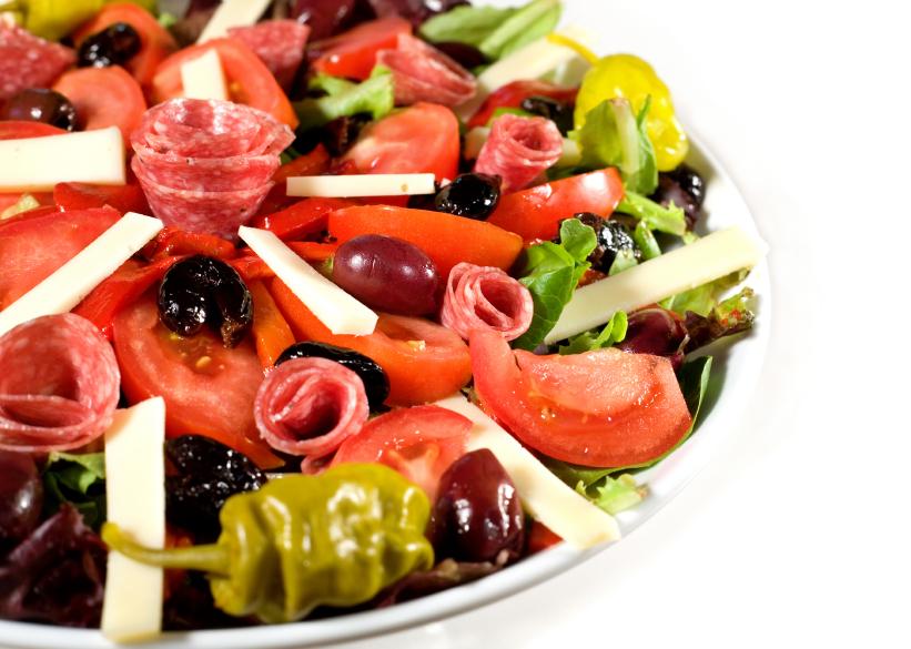 dish of fresh Antipasto salad