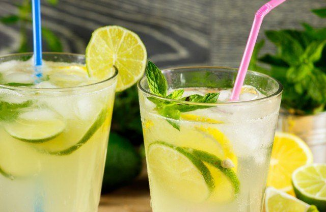 lime infused drink