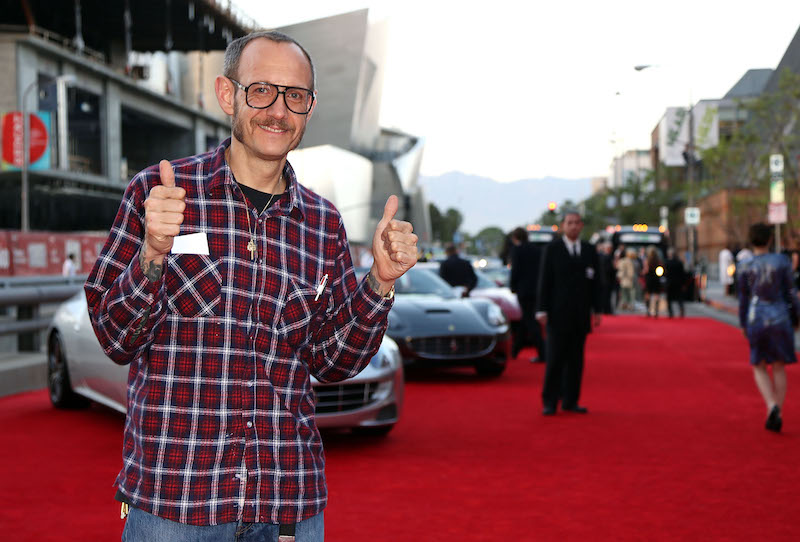Terry Richardson makes a thumbs-up sign