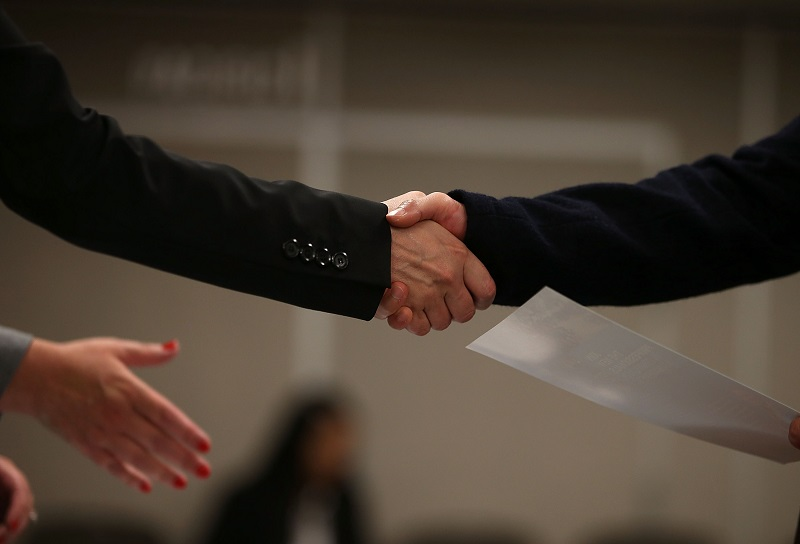 job applicant handshake