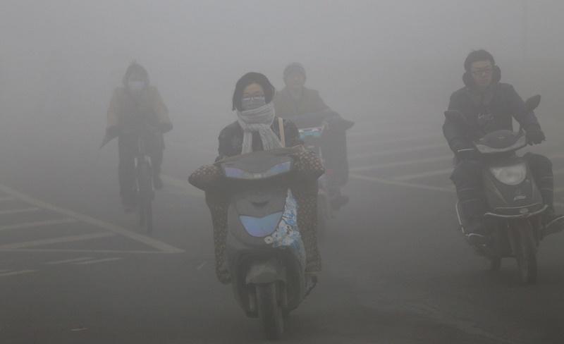 Air Pollution Hits Parts Of China