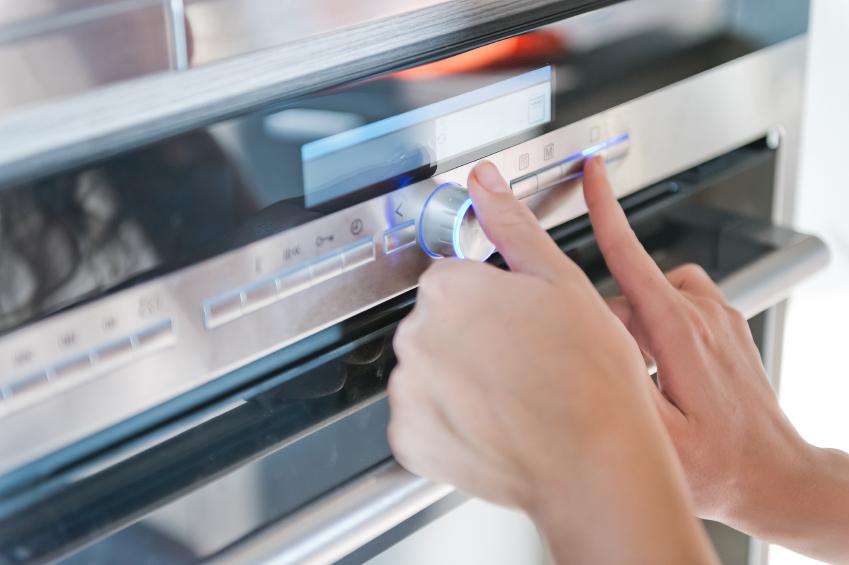 setting the oven temperature