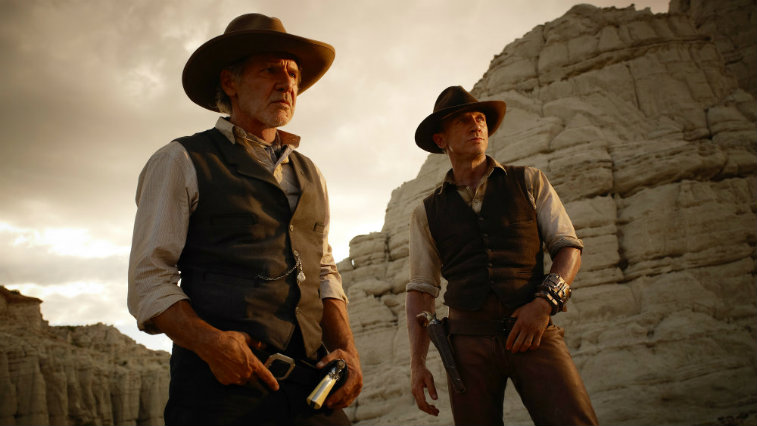 Harrison Ford and Daniel Craig in Cowboys and Aliens