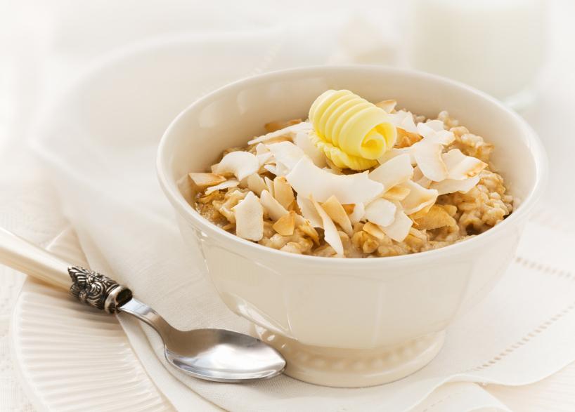 healthy breakfast with oatmeal