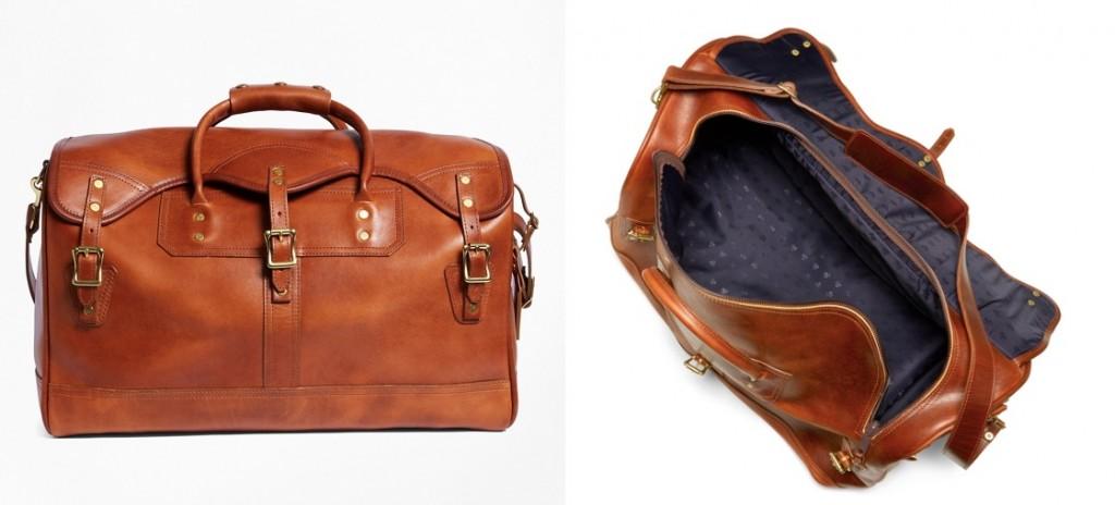 J.W. Hulme small Leather Duffel Bag