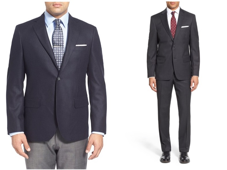 John W. Nordstrom cashmere sportcoat and Nordstrom check suit