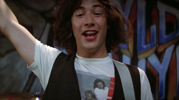 Keanu Reeves in Bill and Ted's Excellent Adventure