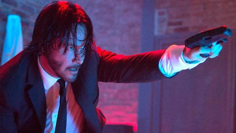 Keanu Reeves looking tough