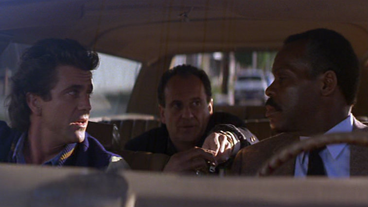 Mel Gibson, Joe Pesci and Danny Glover in Lethal Weapon 2
