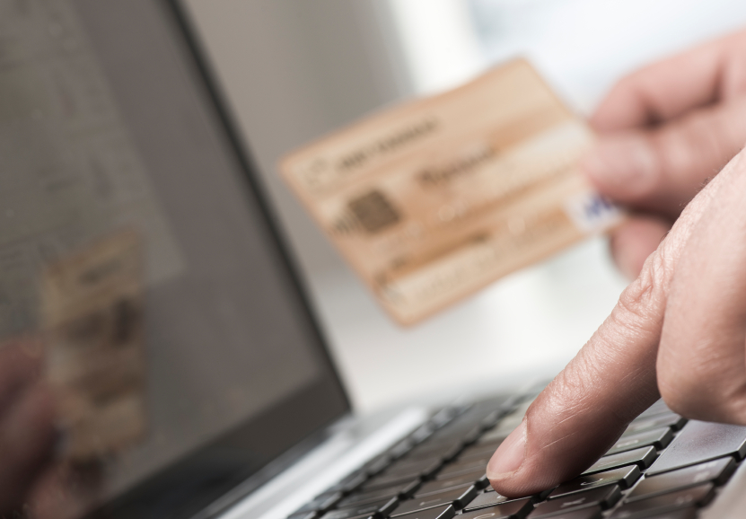 A stolen credit card being used for online purchase