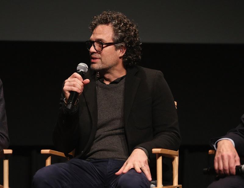 Mark Ruffalo speaking at a screening