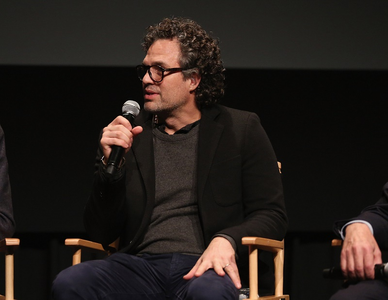Mark Ruffalo speaking at a screening