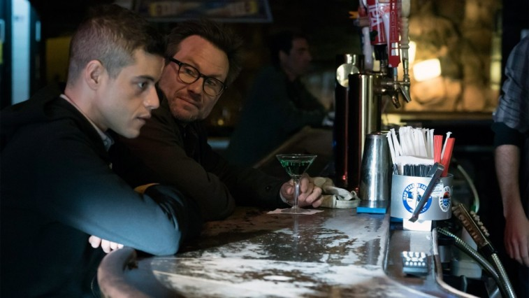 Rami Malek and Christian Slater in Mr. Robot