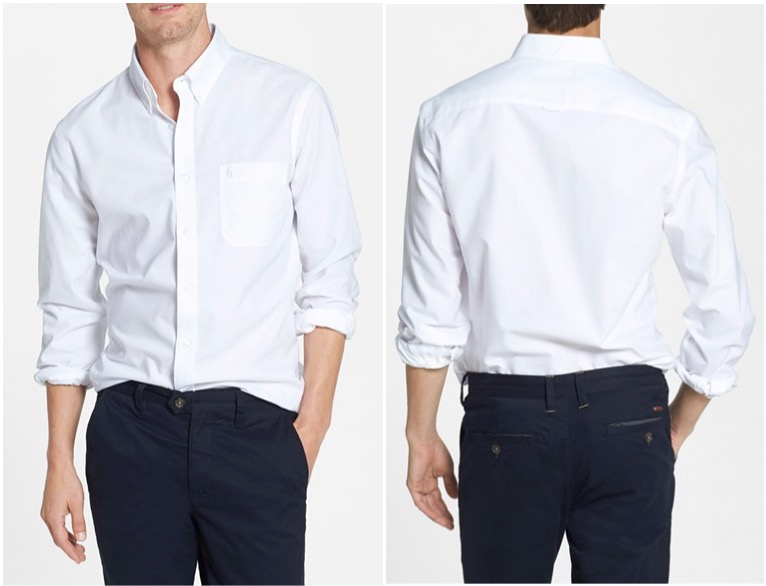 Nordstrom Men's Shop trim-fit oxford sport shirt