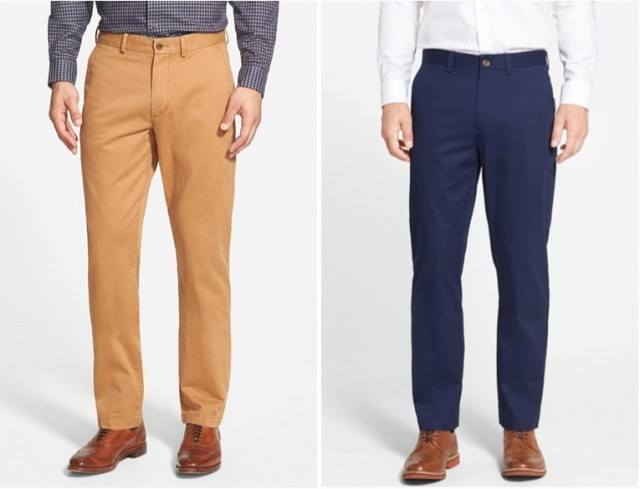 Two pairs of chinos