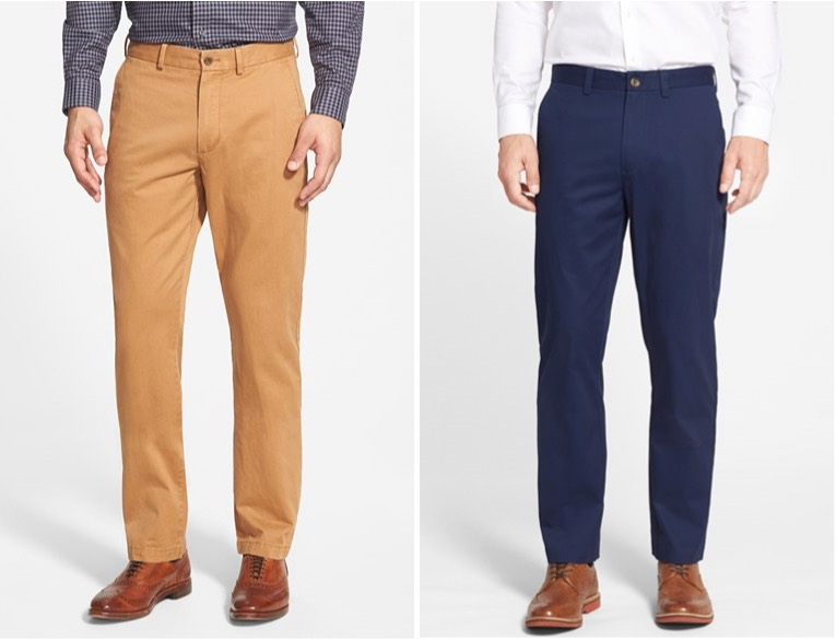 Nordstrom Men's shop straight-leg chinos