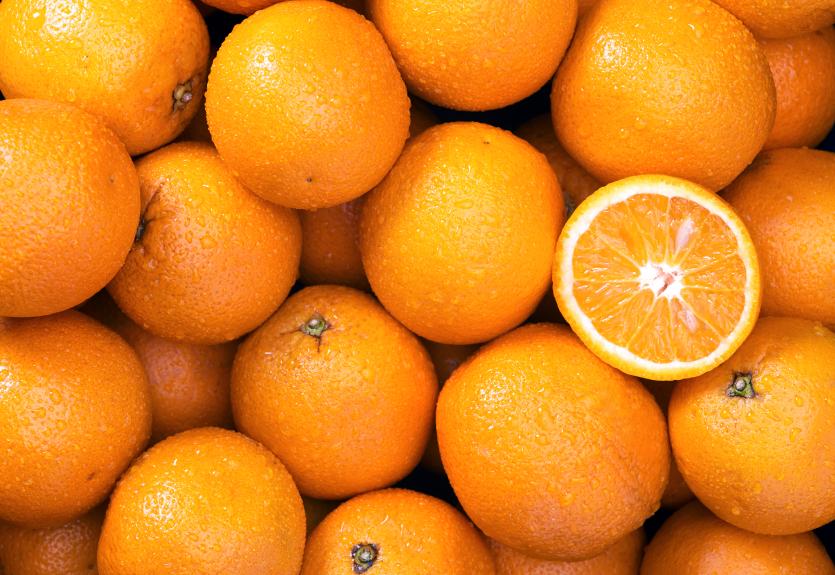 stockpile of oranges