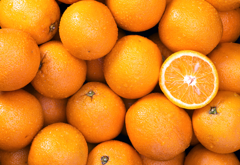 A bunch of oranges